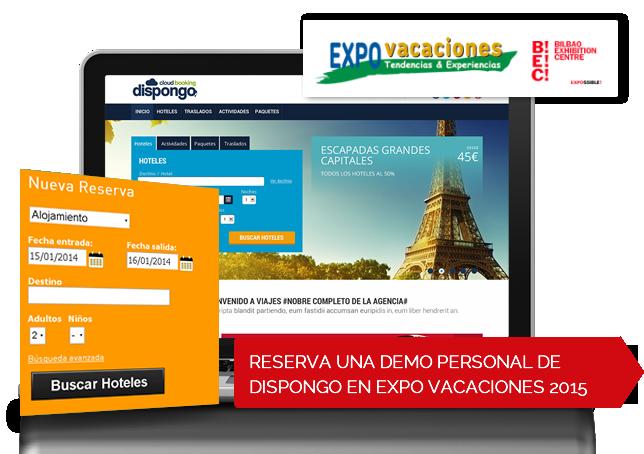 Reserva una demo personal de Dispongo en Expovacaciones2015