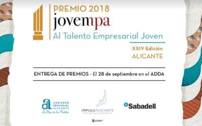 Doblemente finalista del Premio Jovempa 2018 al Talento Empresarial Joven