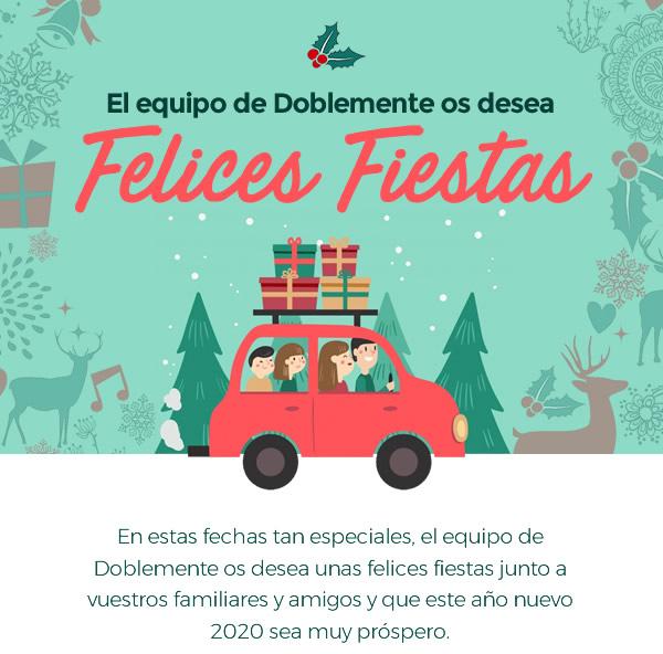 El equipo de Doblemente os desea Felices Fiestas