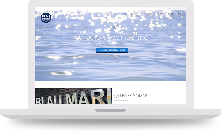pantalla principal cabecera blau mari - Doblemente