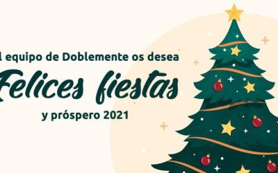 El equipo de Doblemente os deseamos unas felices fiestas y un próspero 2021